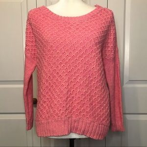• AEO Pink Pullover Knit Sweater •